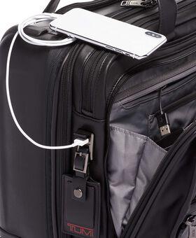 Deluxe Laptop-Aktentasche aus Leder auf 4 Rollen Alpha 3