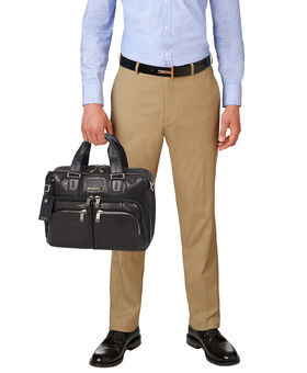 Albany Slim Commuter Leather Brief Alpha Bravo