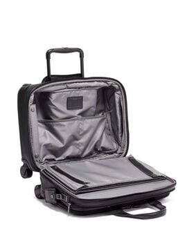 Deluxe 4 Wheeled Laptop Case Brief Leather Alpha 3